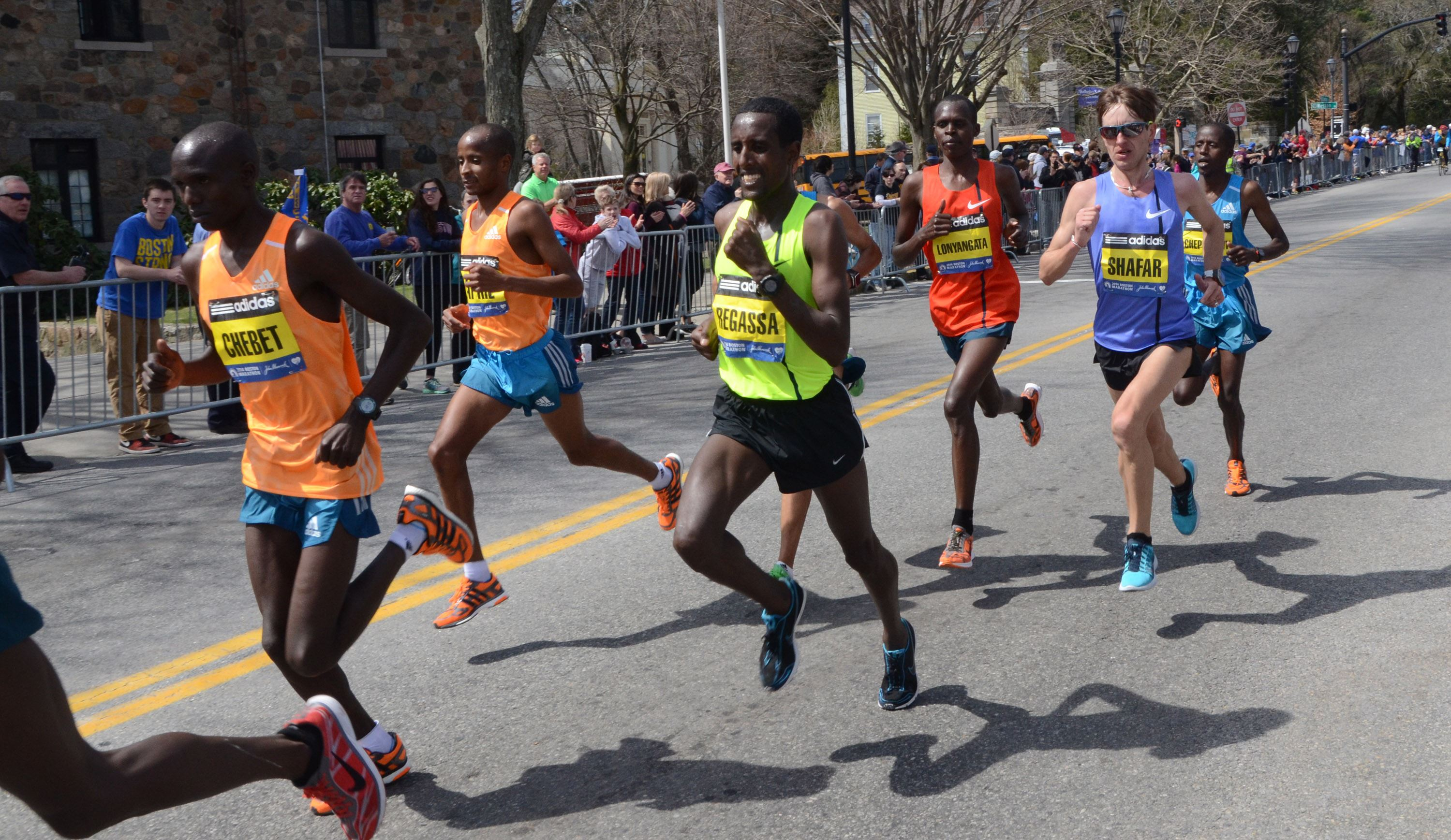 how to follow a runner in the boston marathon