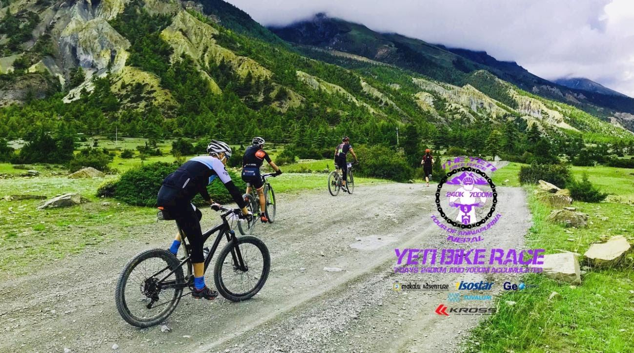 Yeti Bike Race Nepal.Tour of Annapurna.
