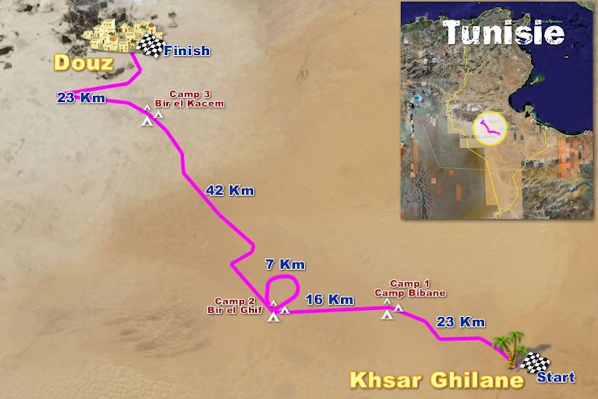 100Km Del Sahara 路线图