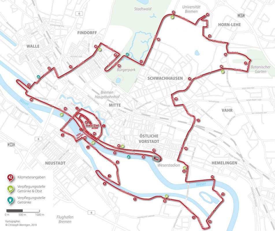 swb Marathon Bremen Route Map