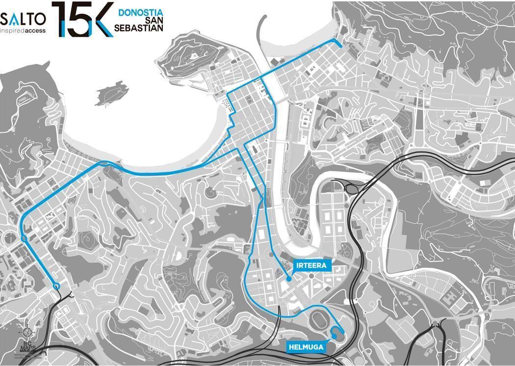 15K Donostia San Sebastian Route Map