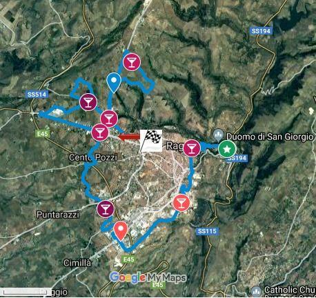 MARATONA DI RAGUSA Route Map