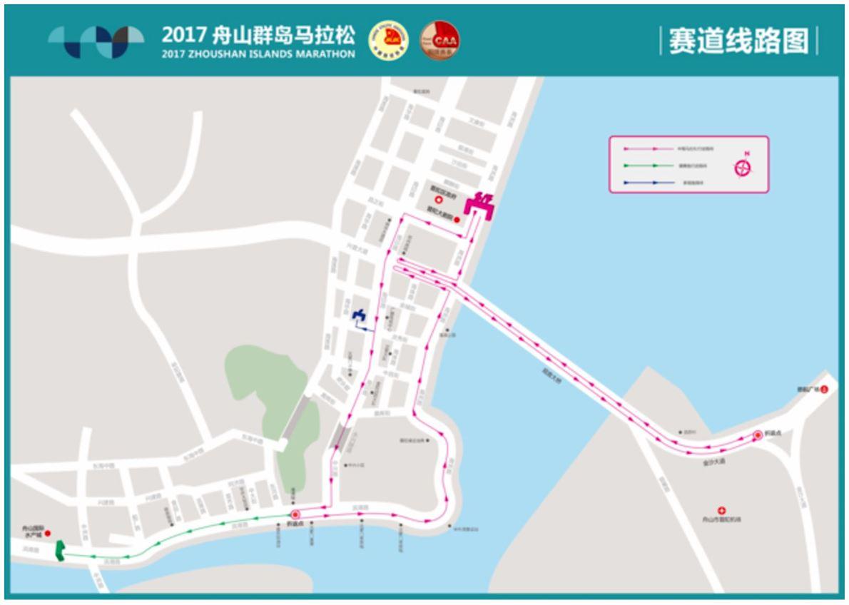 Zhoushan Islands Marathon Routenkarte