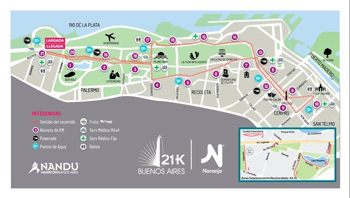 21k Buenos Aires Naranja Route Map