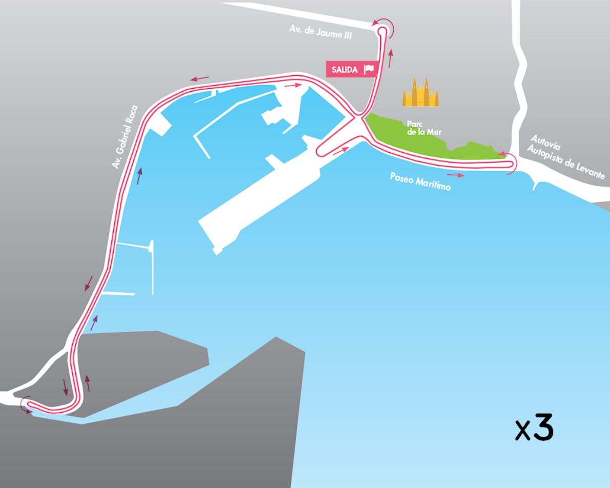 261 Women's Marathon Routenkarte