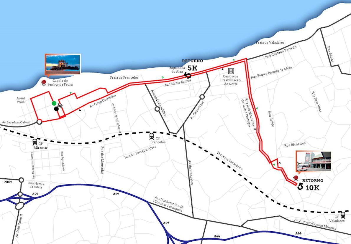Corrida do Bombeiro Mappa del percorso