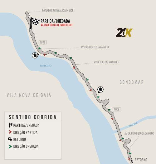 7th half marathon d`ouro run gondomar Generali Route Map