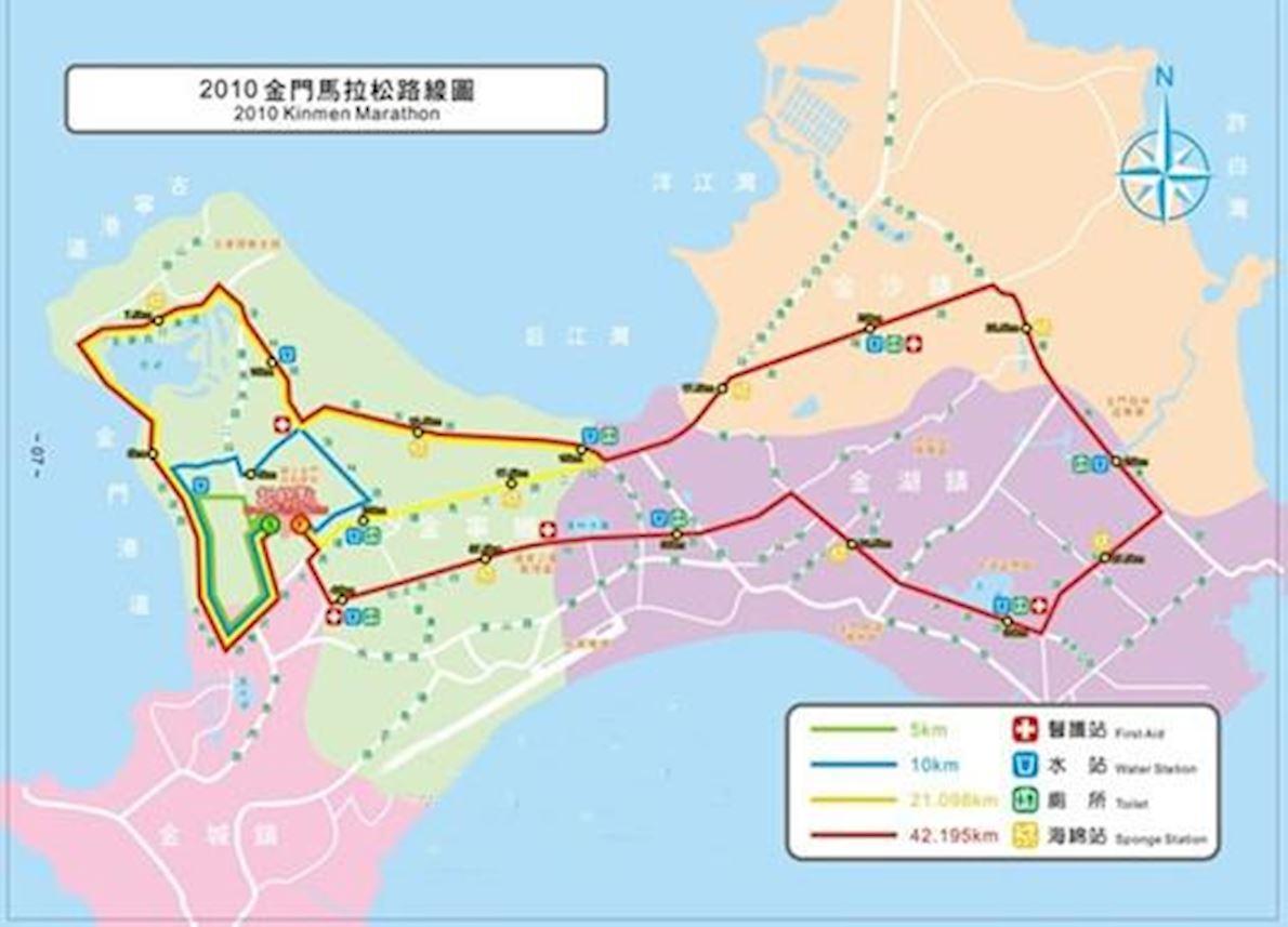 Kinmen Marathon 路线图