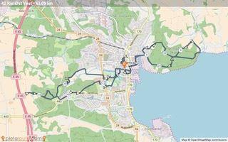 Aabenraa Mountain Marathon Route Map