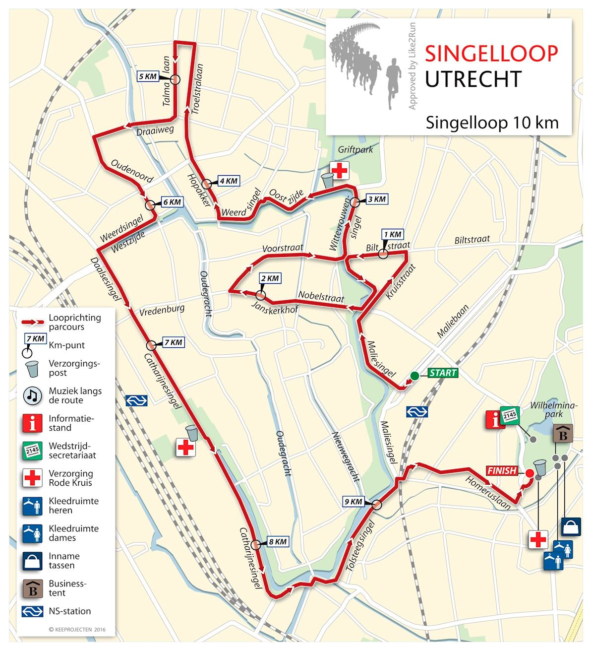 Singelloop Utrecht Route Map