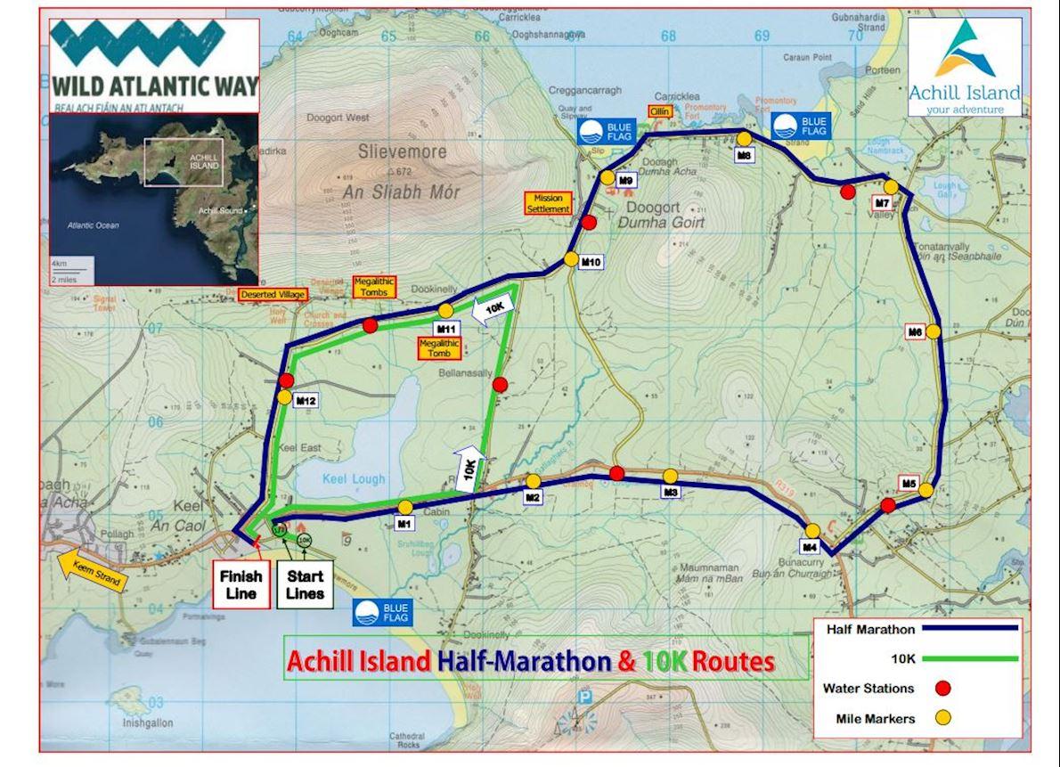 Achill Half Marathon 路线图