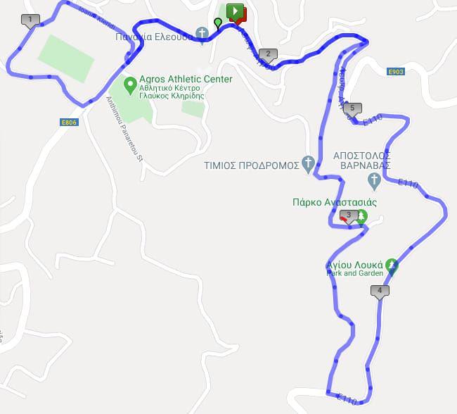 Agros Run Route Map
