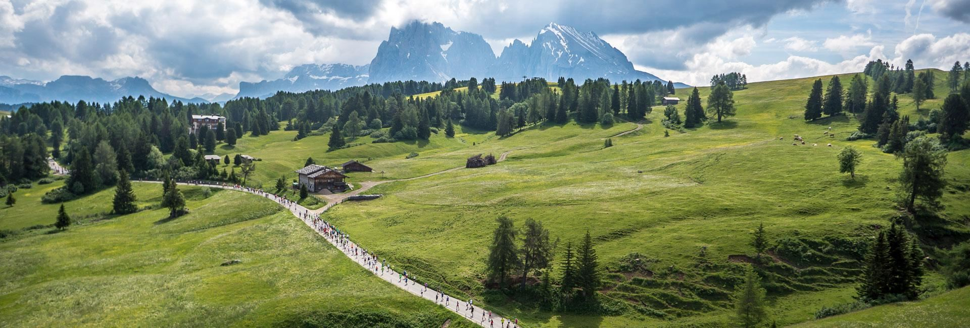alpe di siusi half marathon in the dolomites