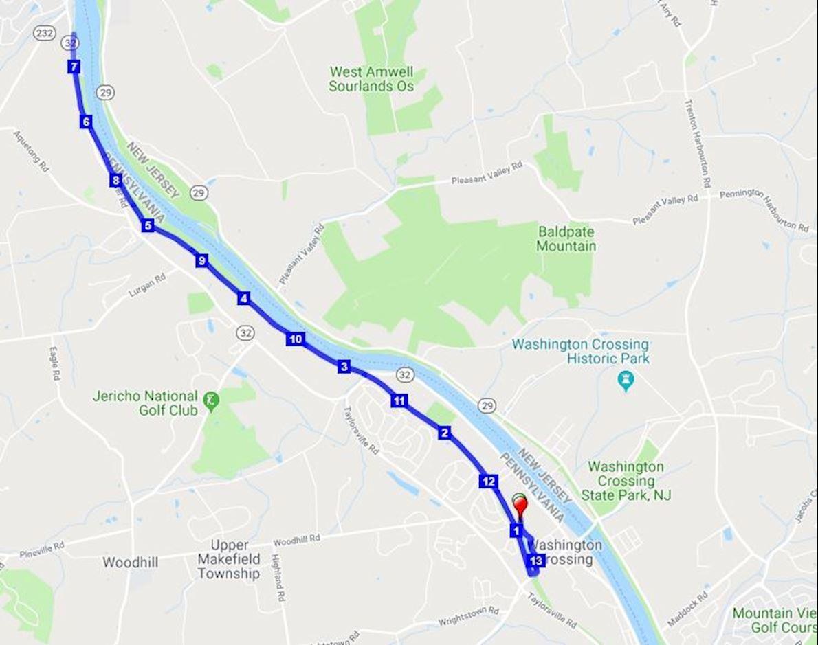 Alternative Half Marathon Mappa del percorso