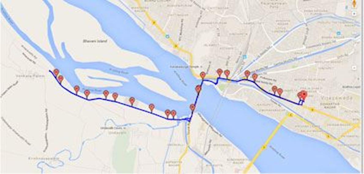 Amaravati Marathon Mappa del percorso