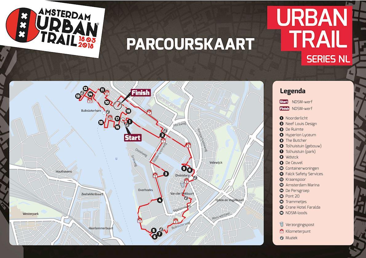 Amsterdam Urban Trail 路线图