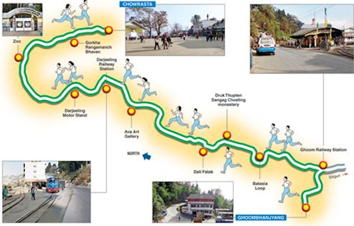 Amway Darjeeling Police Marathon Route Map