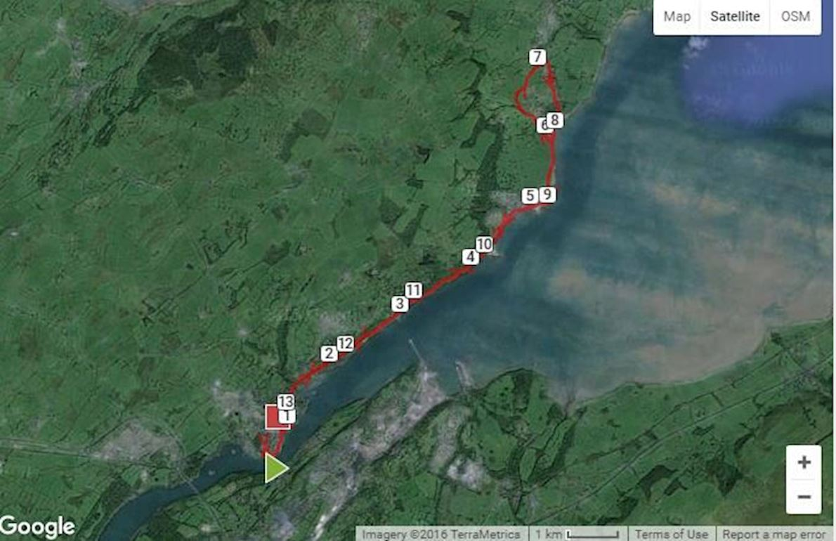 Anglesey Half Marathon Route Map