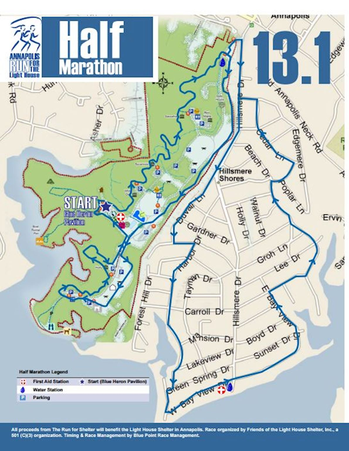 Annapolis Run for the Light House Routenkarte
