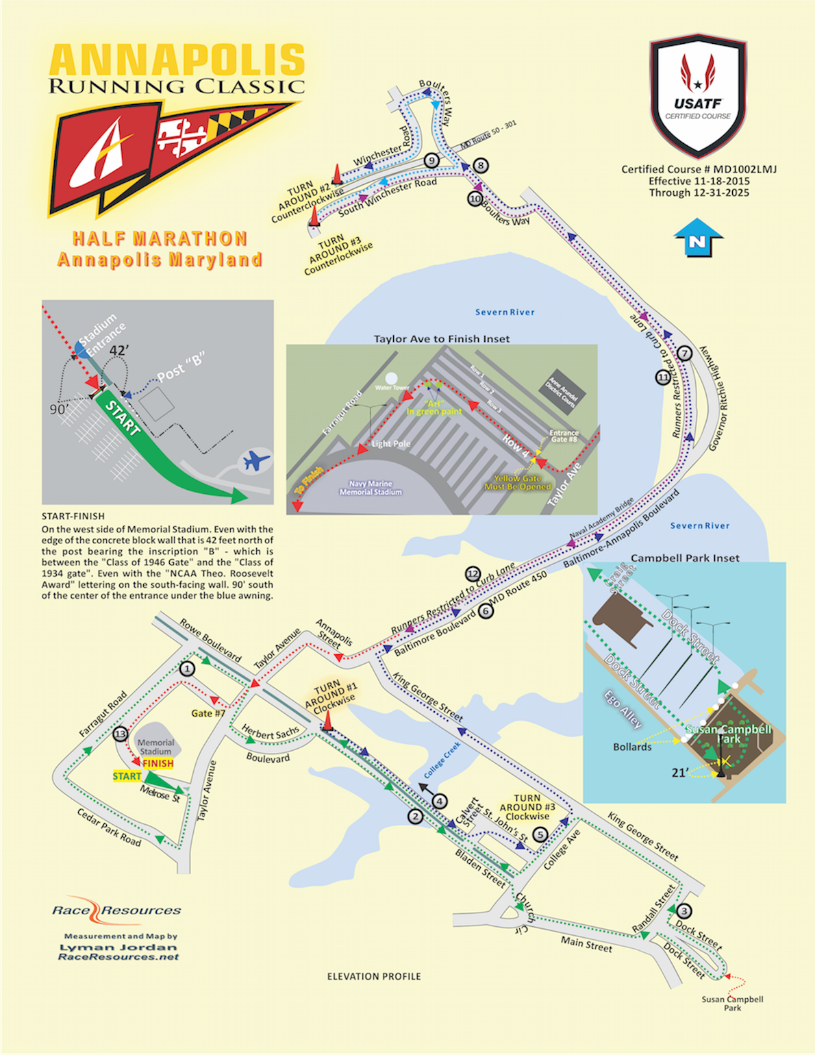 Annapolis Running Classic Route Map