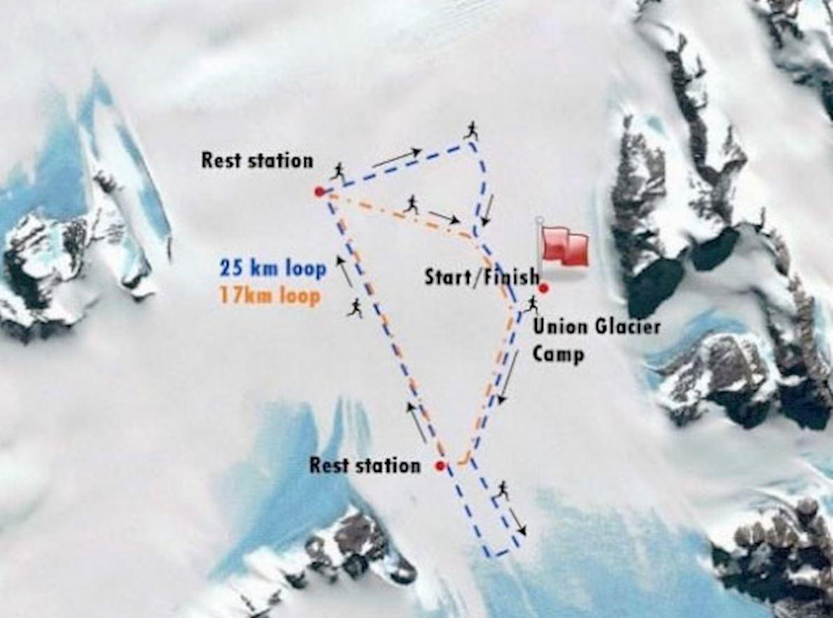 Antarctic Ice Marathon & Half Marathon Mappa del percorso