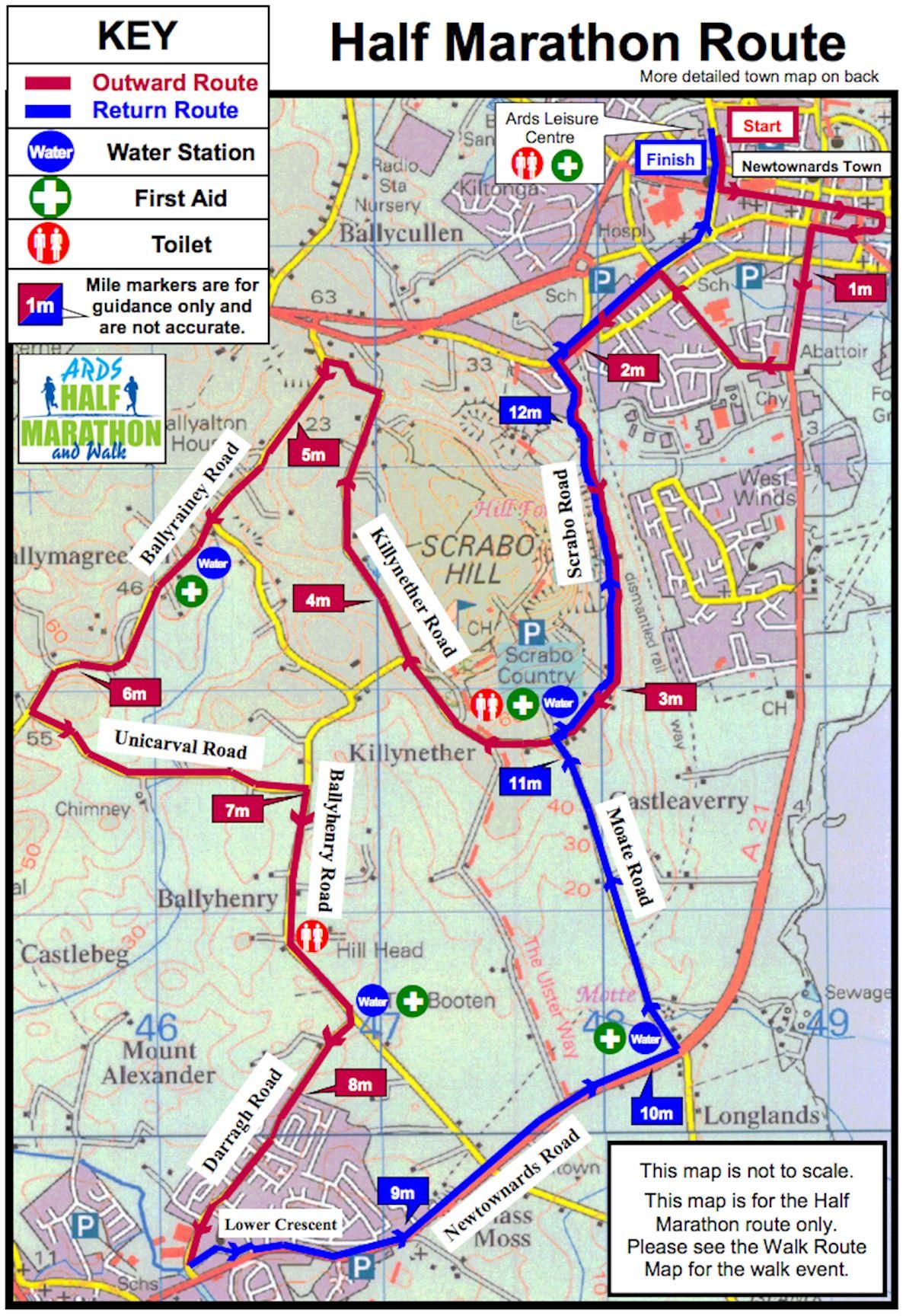 Ards Half Marathon MAPA DEL RECORRIDO DE