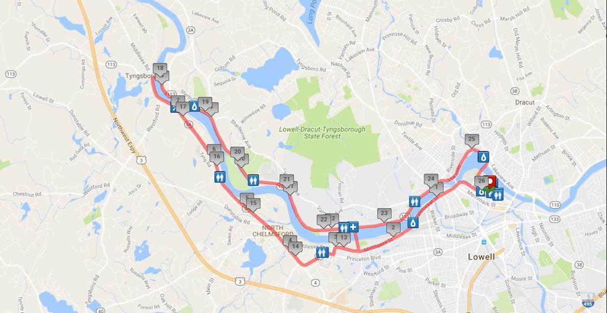 Baystate Marathon Routenkarte