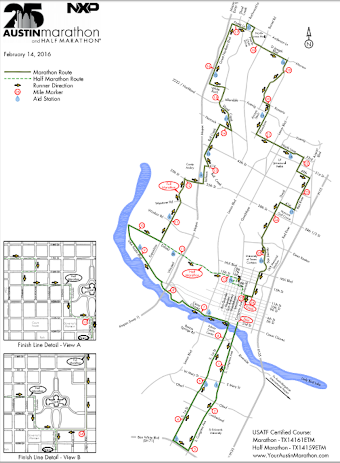 Austin Marathon & Half Marathon Route Map