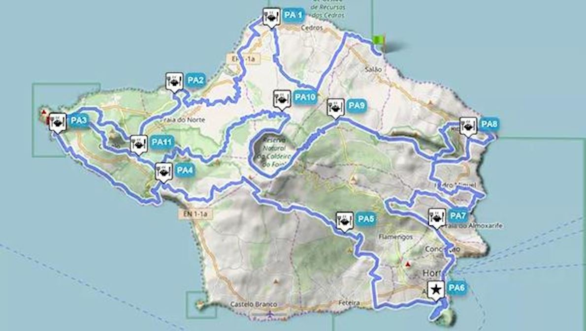 WHALERS' GREAT ROUTE ULTRA-TRAIL® by Azores Trail RUN® 路线图