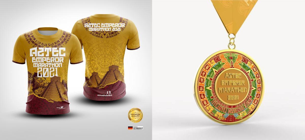 aztec emperor virtual run marathon