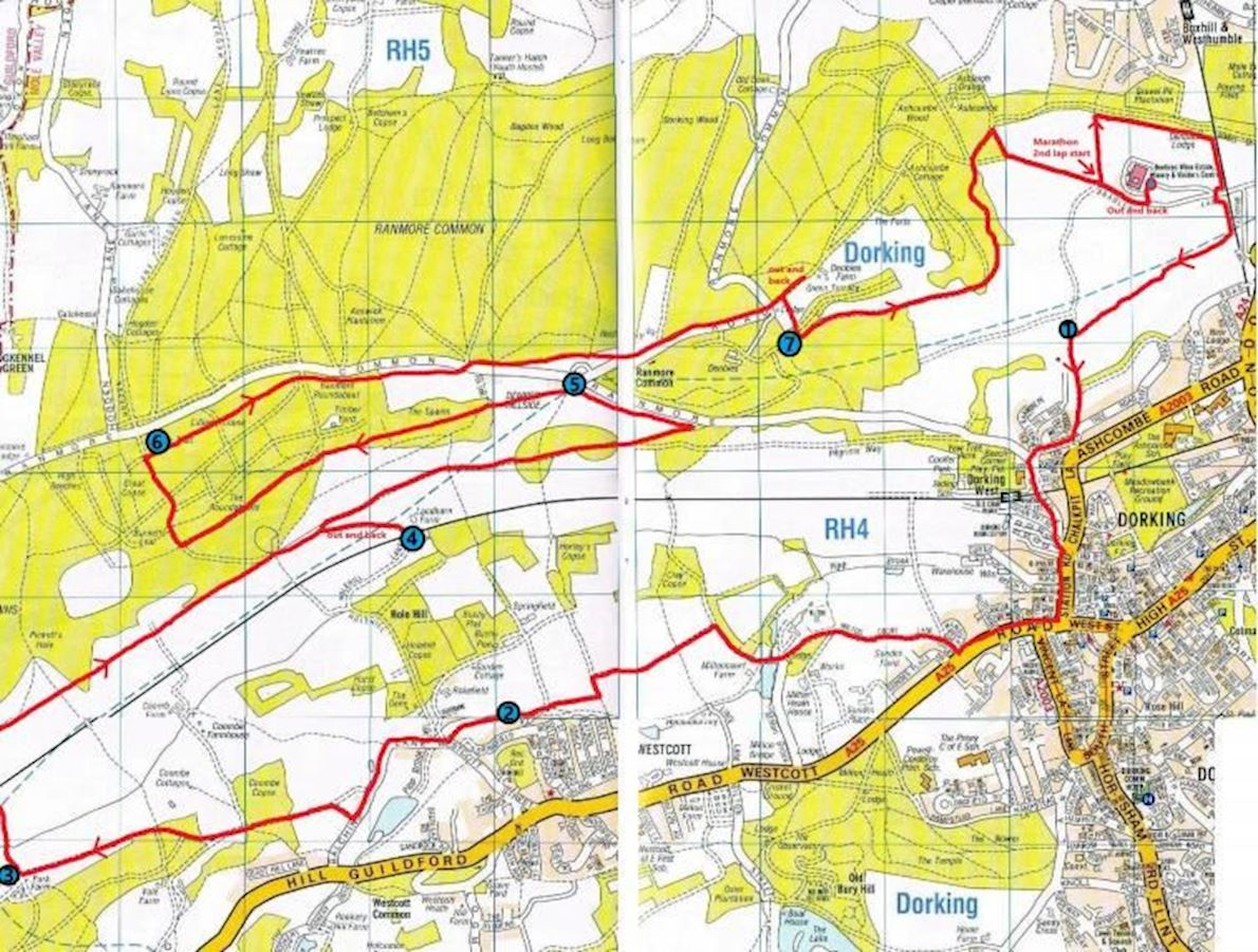 Bacchus Marathon Route Map