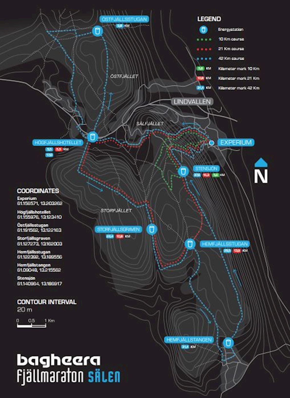 Bagheera Fjällmarathon Sälen Route Map