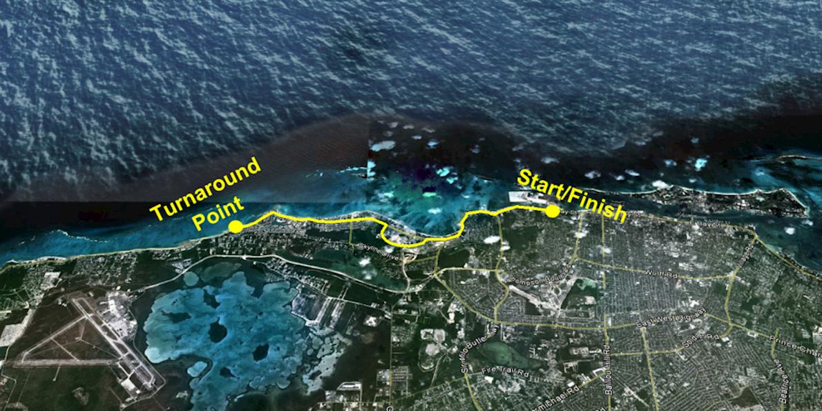 Bahamas Half Marathon 路线图