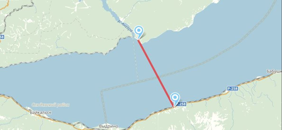 Route Map Baikal Ice Marathon