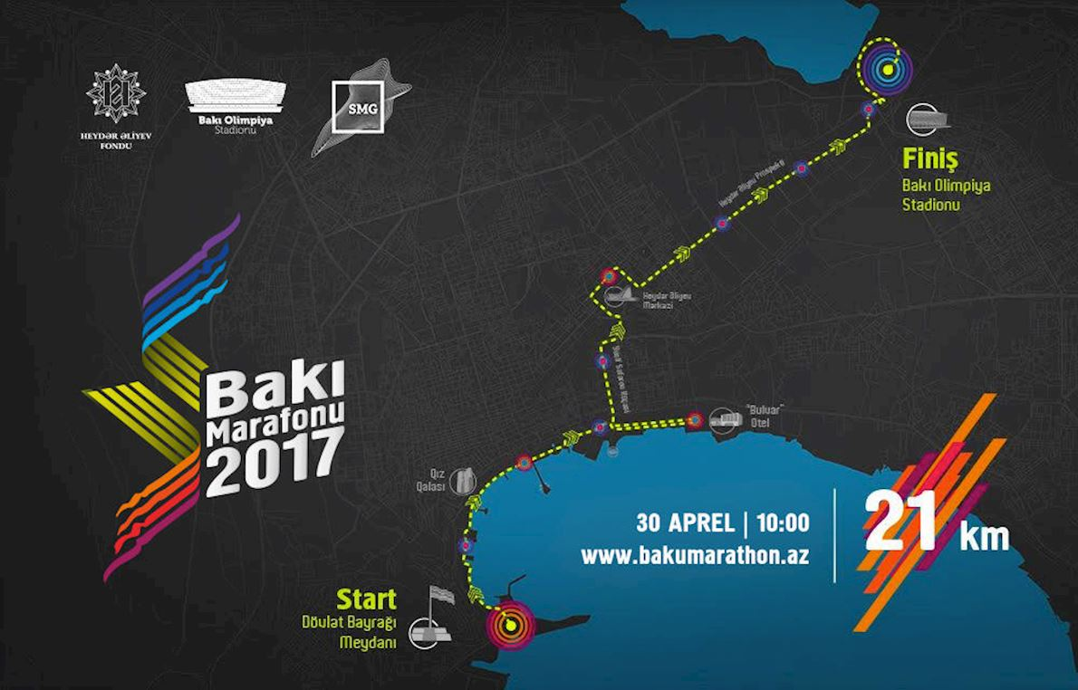 Baku Marathon Route Map