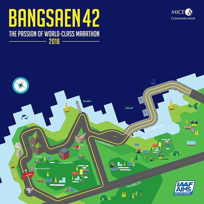 BANGSAEN42 CHONBURI MARATHON Route Map