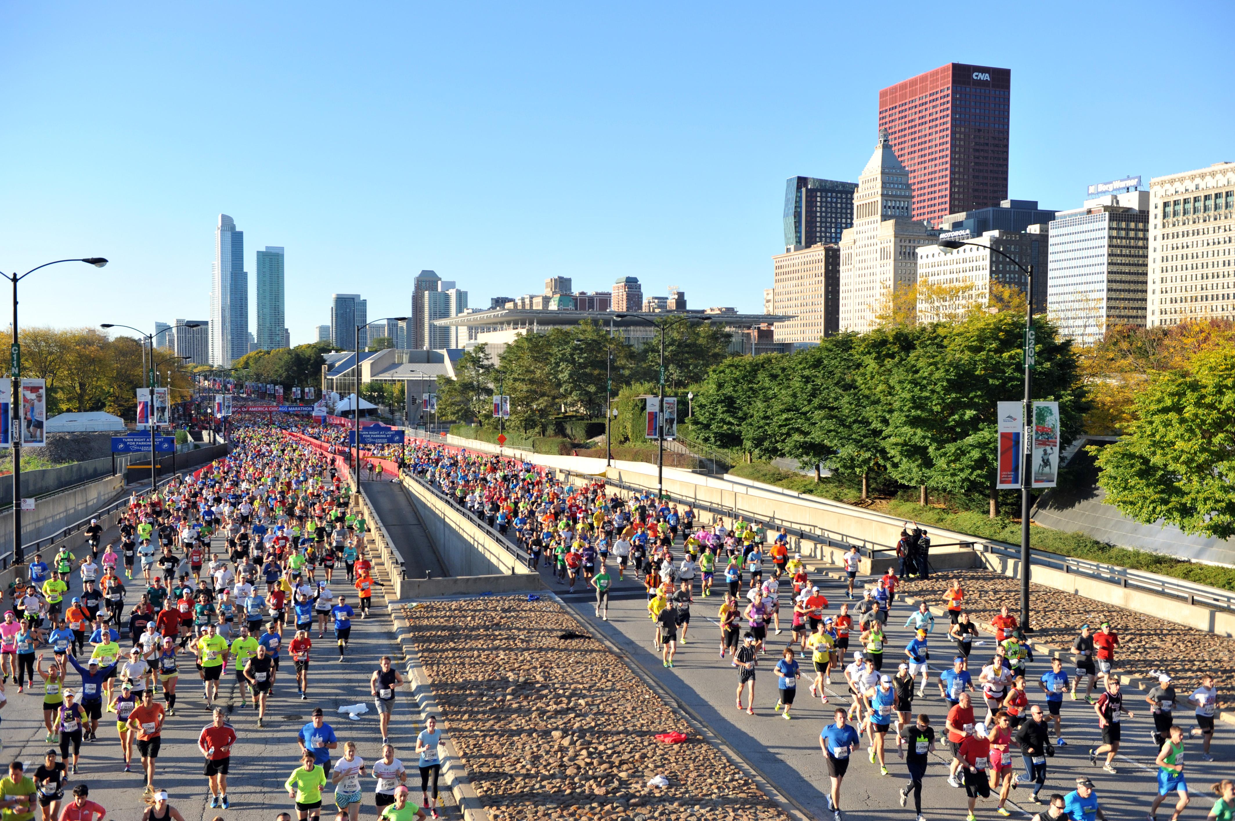 Bank Of America Chicago Marathon Oct   Worlds Marathons - Chicago marathon map