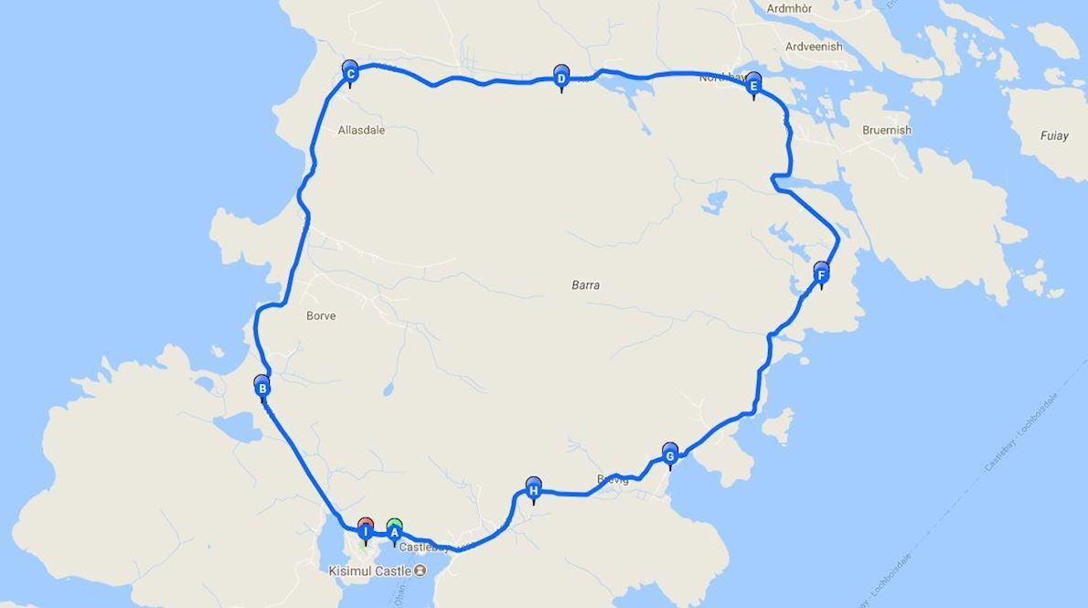 Barrathon Half Marathon Mappa del percorso