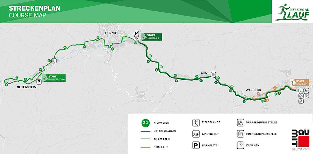 BauMit Piestingtallauf Route Map