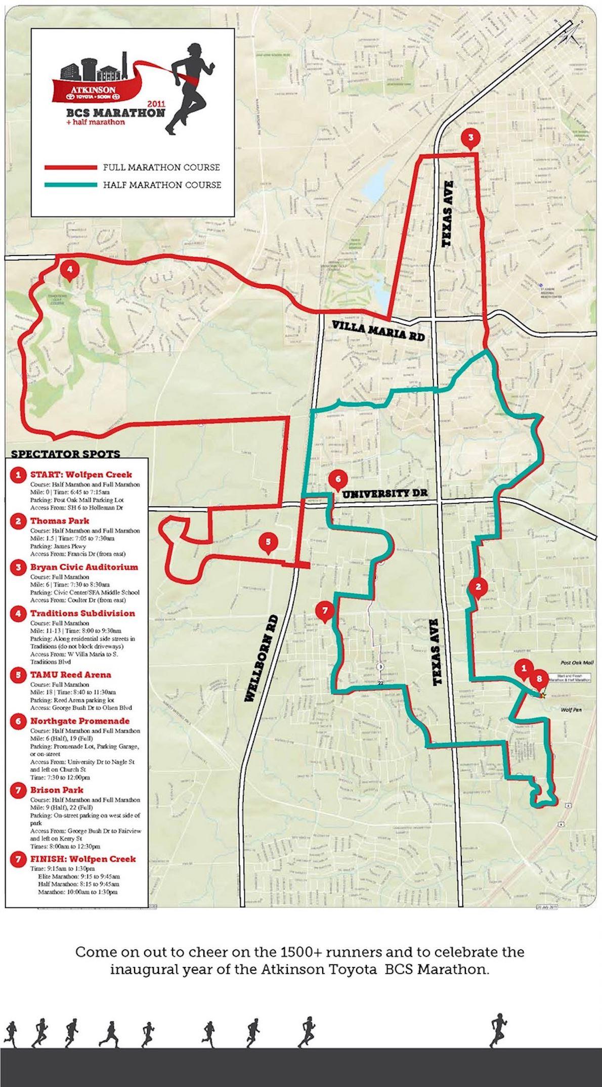 BCS Marathon and Half Marathon Mappa del percorso