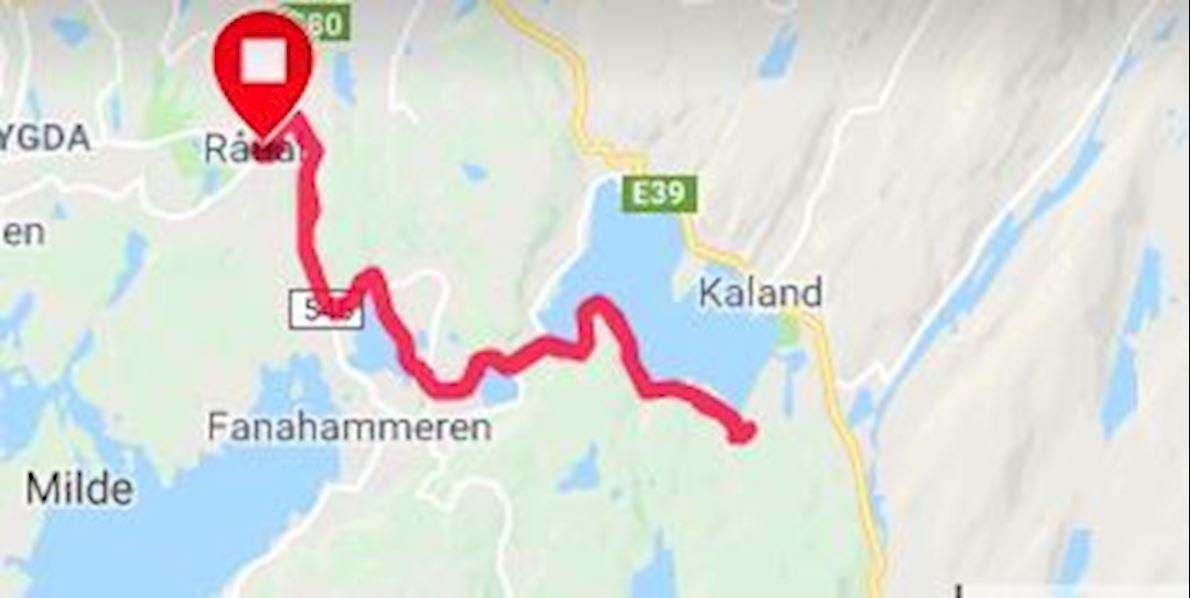 Bergen Maratonkarusellen no4 - Skogsmaraton Route Map