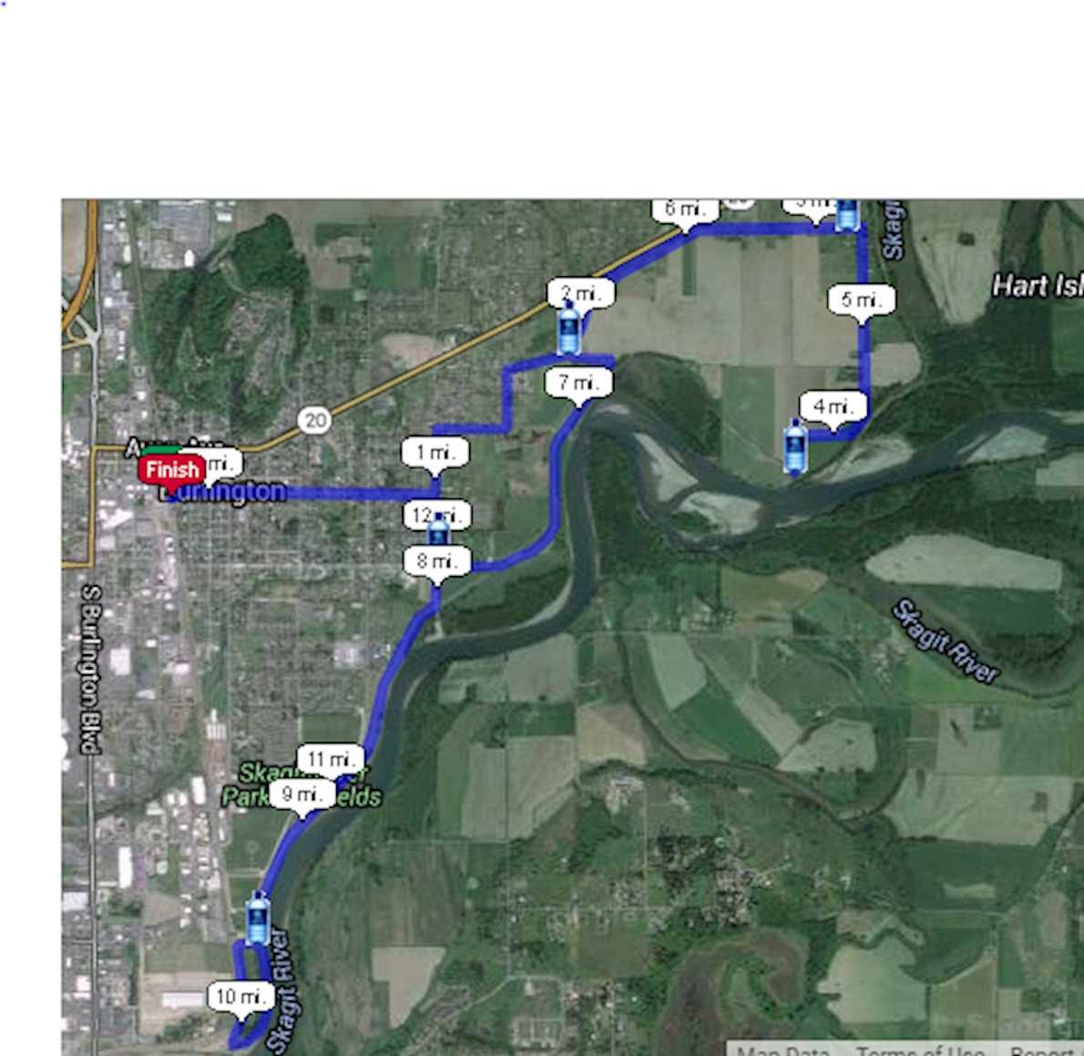 Berry Dairy Days Runs Route Map