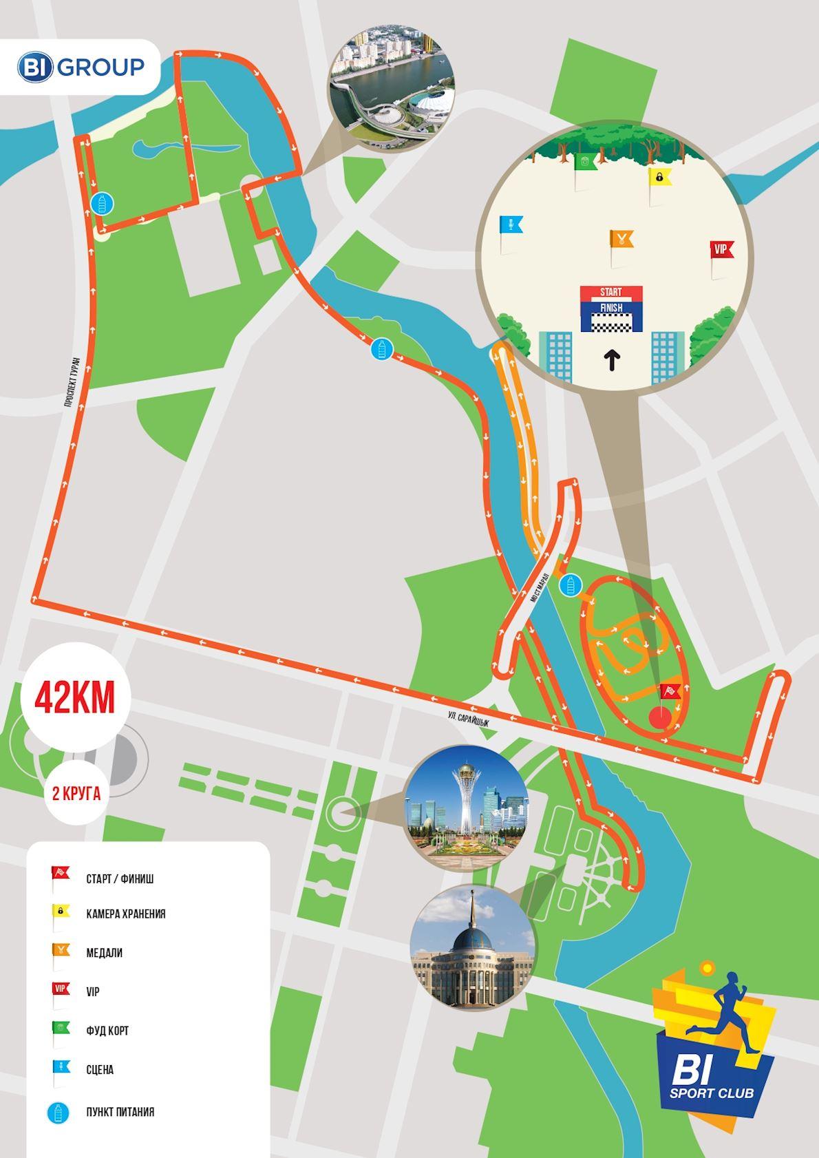 BI Marathon Routenkarte