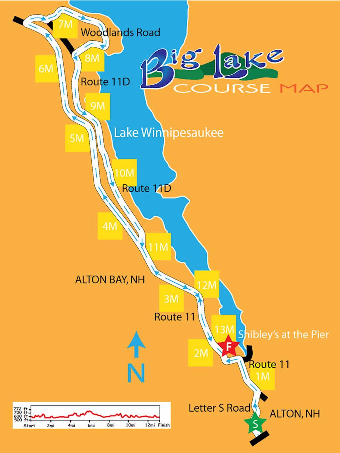 Big Lake Half Marathon Route Map