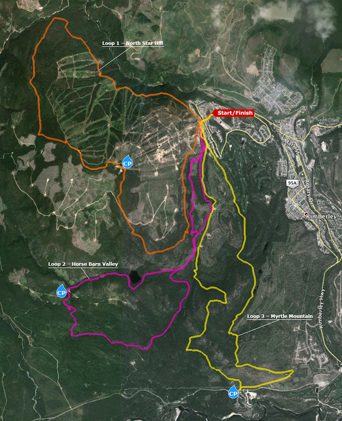 Black Spur Ultra Mappa del percorso