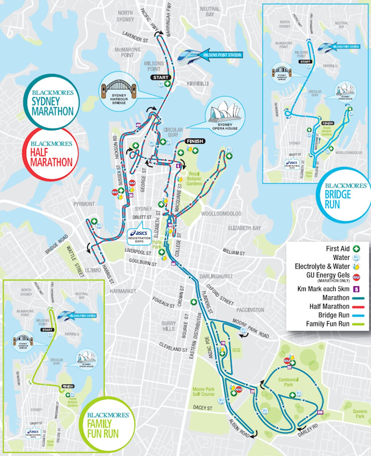 Blackmores Sydney Running Festival Route Map