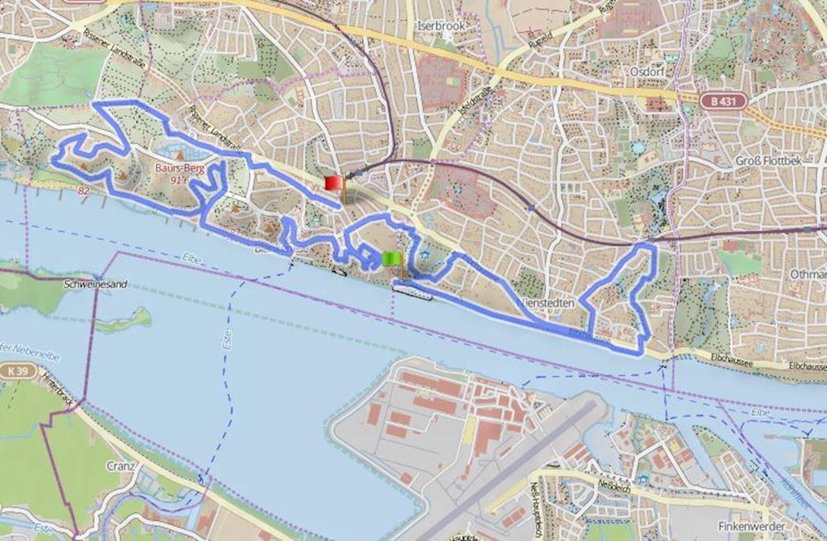 Blankeneser Heldenlauf Route Map