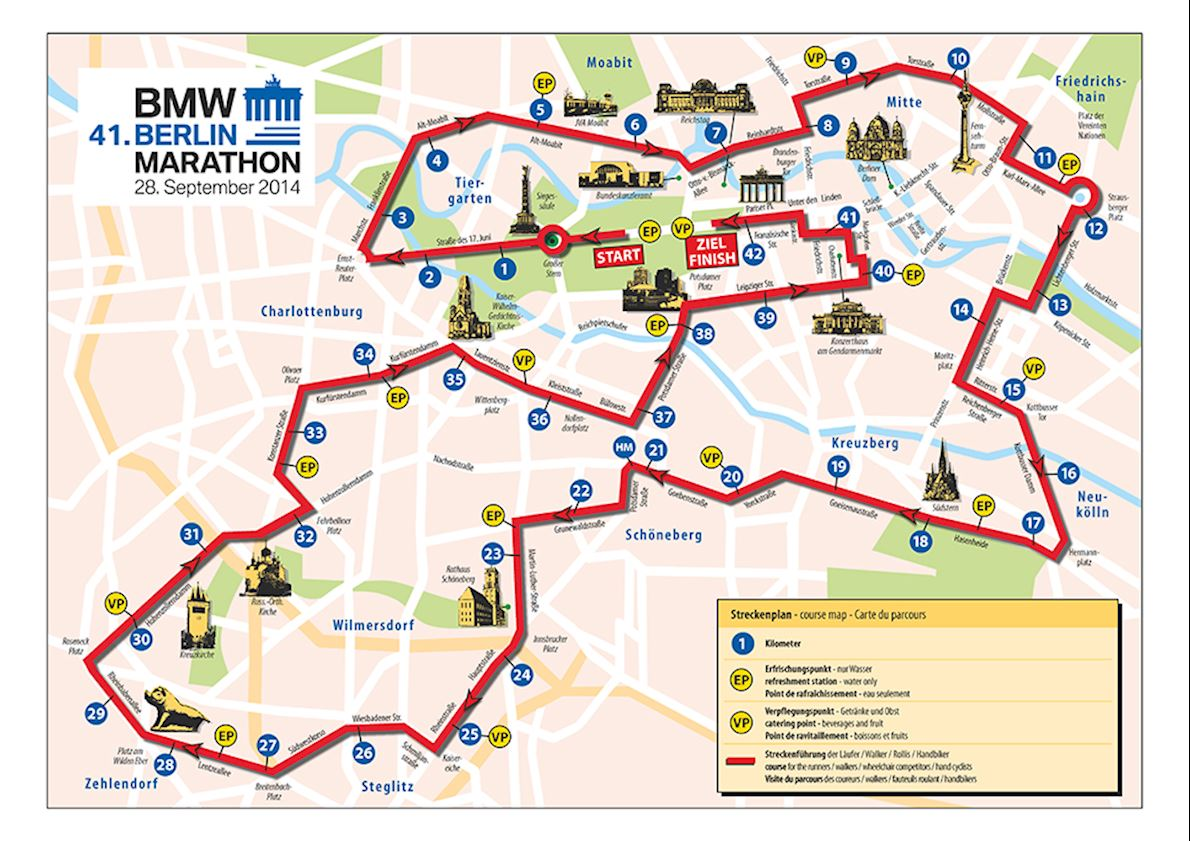 Bmw Berlin Marathon Route Map