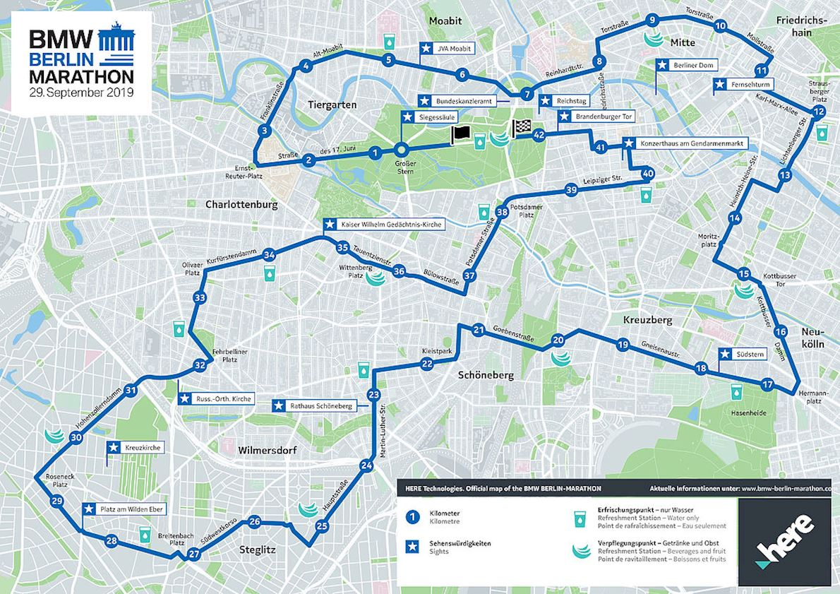 Berlin Marathon Route Map