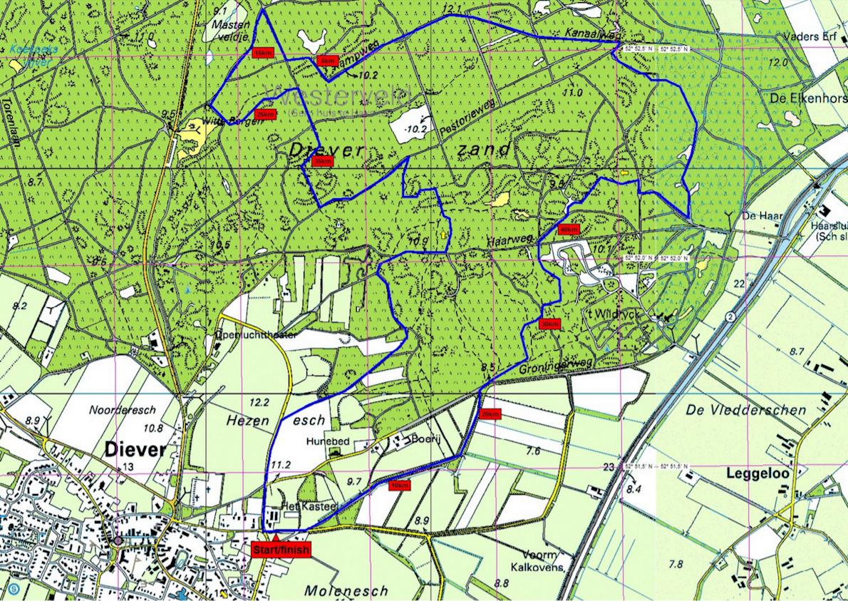 Boscross Mappa del percorso